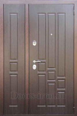 Дверь двустворчатая мдф шоколадно-коричневая