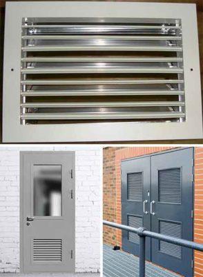 Дверь с решеткой для электрощитовой