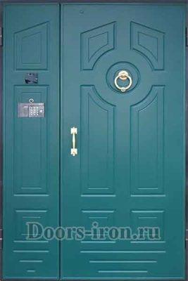 Двустворчатая дверь с кодовым замком