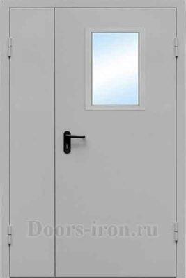 Дверь противопожарная двухстворчатая со стеклом