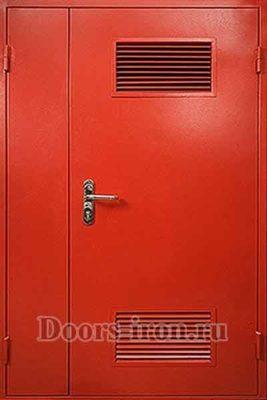 Двустворчатая дверь с решеткой