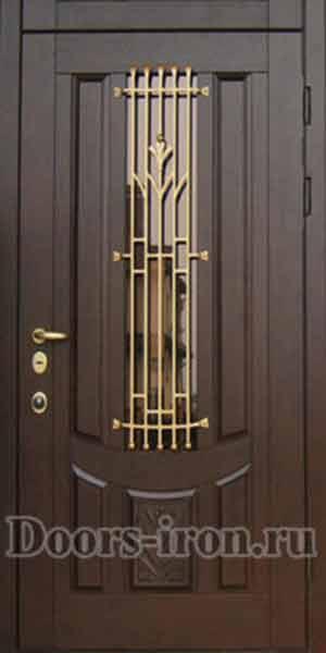 железные входные двери со вставками по бокам