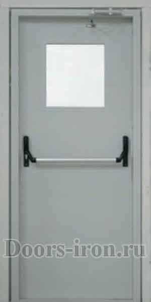 противопожарная дверь с квадратным окном на заказ