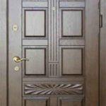 Входная дверь с отделкой мдф филенчатая
