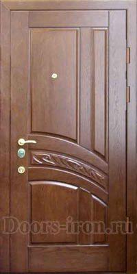 Входная дверь мдф насыщено красного цвета