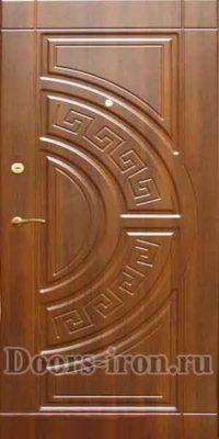 Входная дверь мдф ржаво коричневого цвета