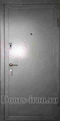 Купить металлическую дверь с порошковым напылением стального цвета