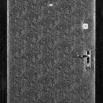 Входная дверь с отделкой дерматин ченобелая