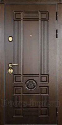 Входная дверь мдф шпон коричневая снаружи
