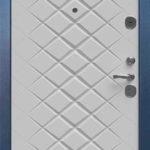 Входная дверь с полимерным покрытием и мдф