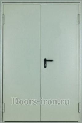 Дверь противопожарная двухстворчатая глухая