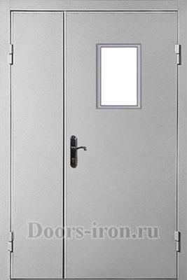 Дверь противопожарная двухстворчатая