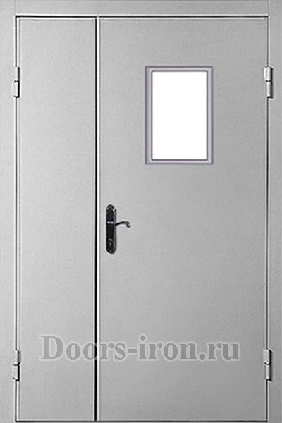 противопожарные двухстворчатые металлические двери от производителя