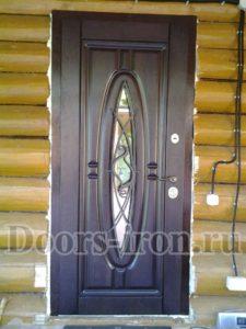 Дверь в сруб с отделкой мдф