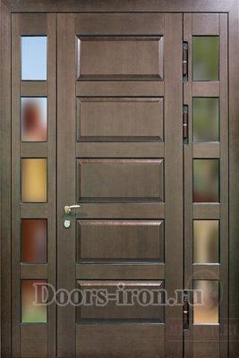 Одностворчатая дверь с боковыми зеркальными вставками