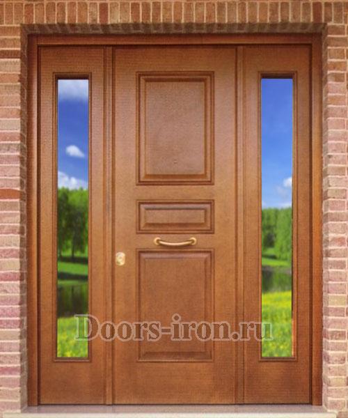 входные двери со вставками по бокам