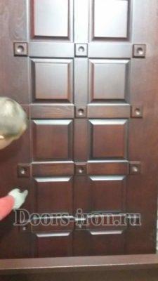 дверь с отделкой мдф шпон и массив дуба