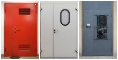 Двустворчатые технические двери