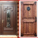 Рис. 2 Стальные двери с филенчатой и наборной облицовкой