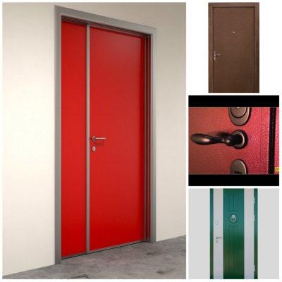 Окрашивание входной двери