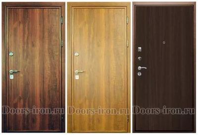 Двери с отделкой ламинат