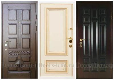 Двери с отделкой МДФ шпон
