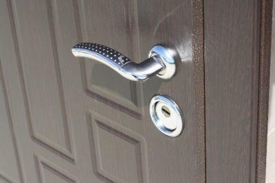 Дверь МДФ шпон - кожзаменитель