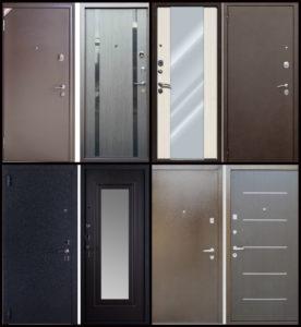 Входные двери с дополнительными вставками