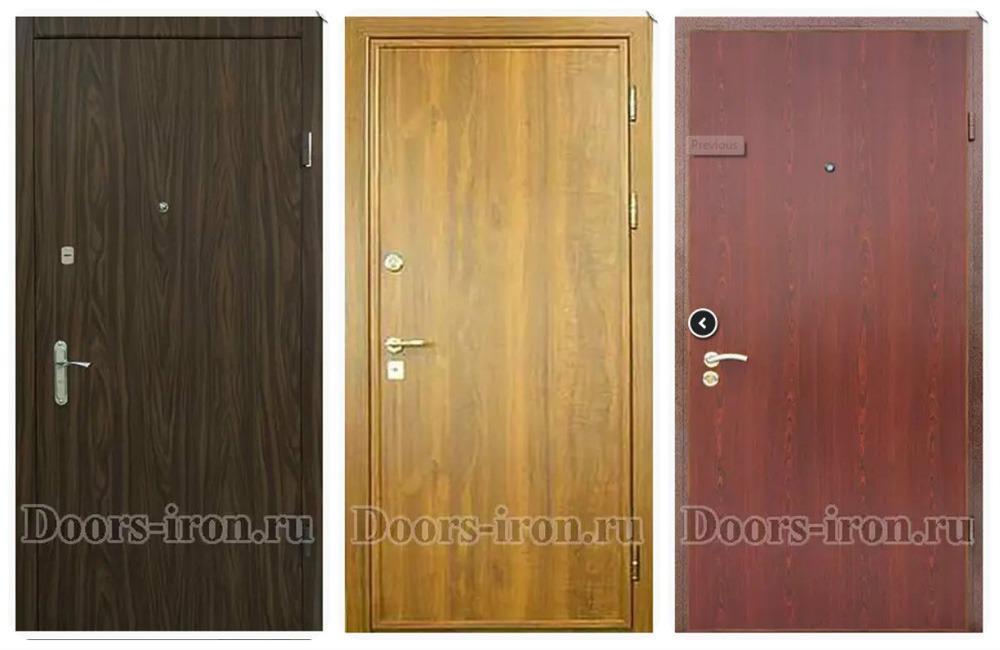 металлические двери эконом класса ламинат