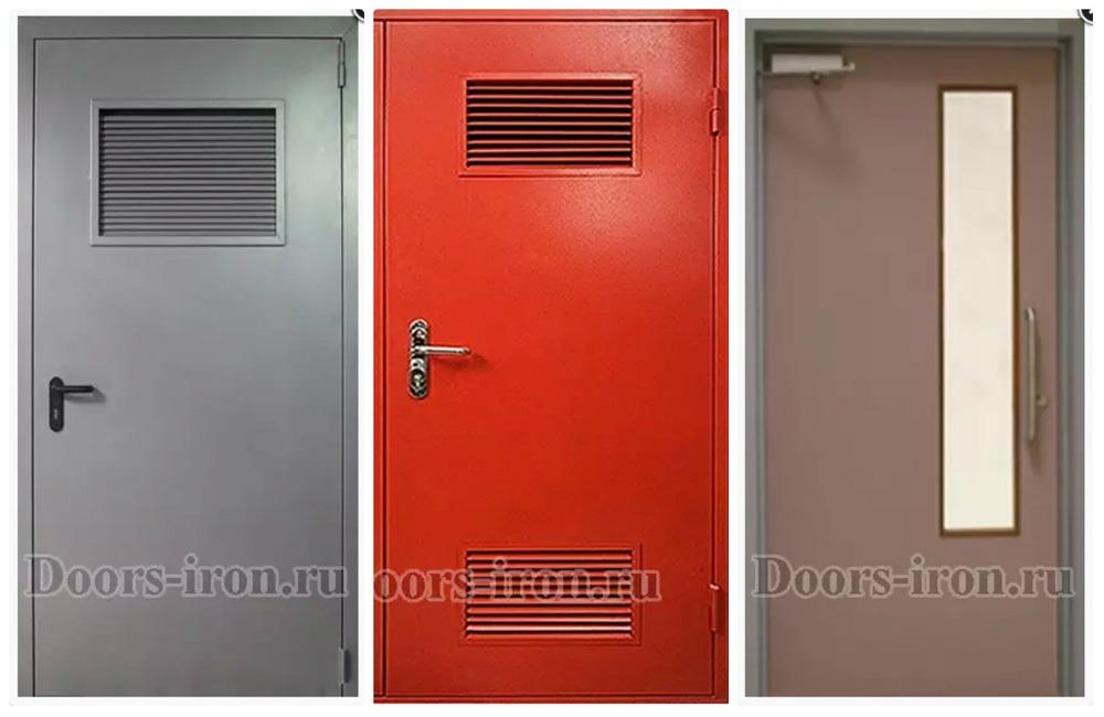 двери технические металлические эконом