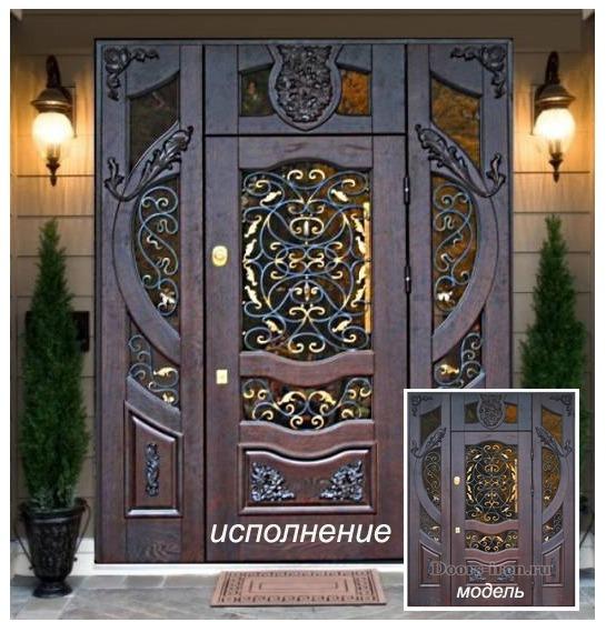 очень красивые входные двери