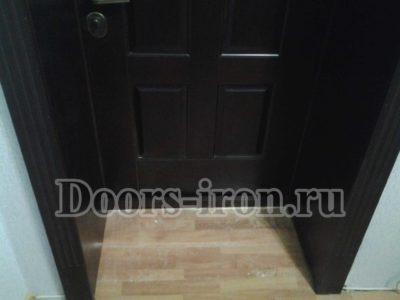 Входная дверь с откосами и наличниками мдф