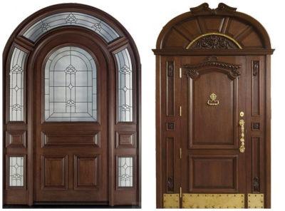 Входная полукруглая дверь