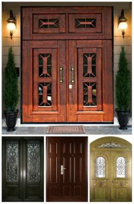 Двустворчатые двери входные