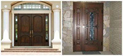 Равнопольные и разнопольные двустворчатые двери входные