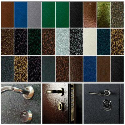 Рис. 2 Разнообразие антивандального порошкового покрытия