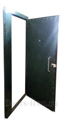 Утепленная входная двустворчатая дверь в подъезд