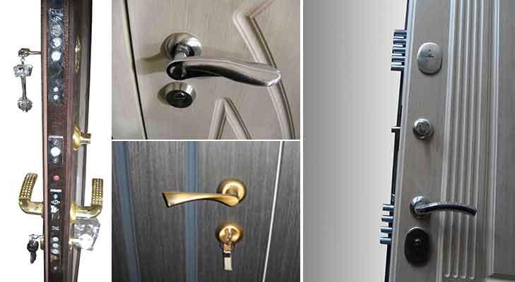 ручки и замки на входную дверь