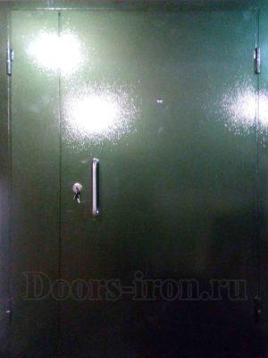 Входная двустворчатая дверь в подъезд