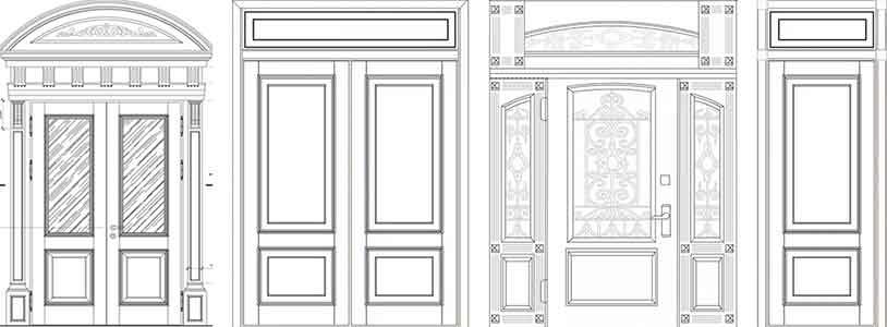 Эскизы высоких дверей