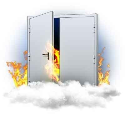 Двухпольная противопожарная дверь