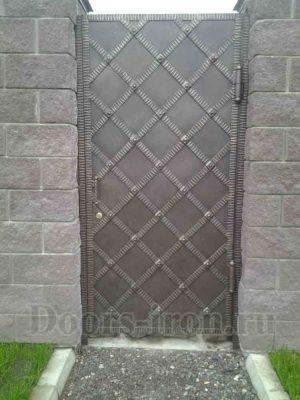 Уличная металлическая дверь для забора