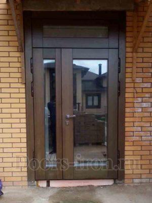 Дверь входная металлическая со стеклопакетом