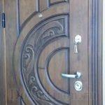 Филенчатая входная металлическая дверь для квартирц