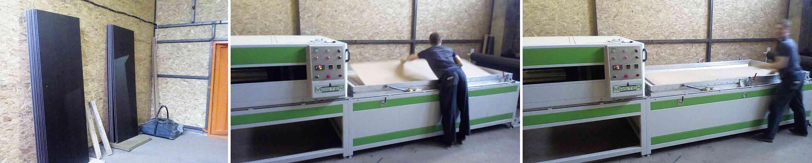 Оборудование и станки для отделки панелей из МДФ