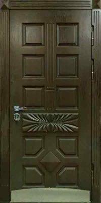 Входная дверь серовато-оливковая