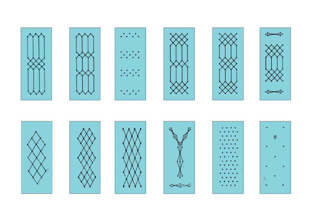 Образцы рисунков отделок искусственной кожей эскизы