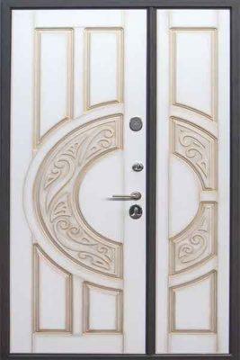 Полуторная входная дверь для дома