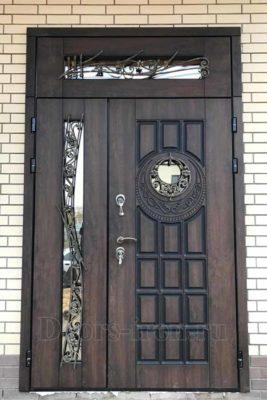 Двустворчатая элитная дверь к коттедж