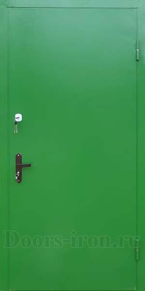 Входная металлическая дверь для дачи зеленая